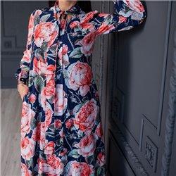 Платье Розы (синий фон)