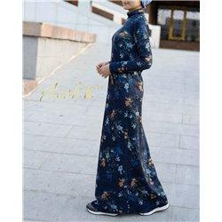 Платье Аиша (цветы синее)