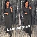 Ламис платье + кардиган (хаки)