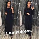 Ламис платье + кардиган (черное)