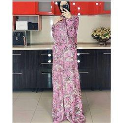 Платье-халат (розовый фон)