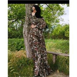 Платье-халат (хаки)