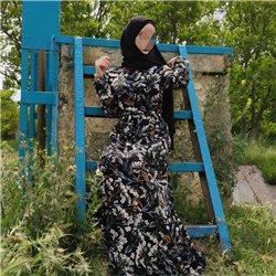 Платье-халат (черный фон)