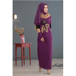 Платье + Палантин (фиолет)