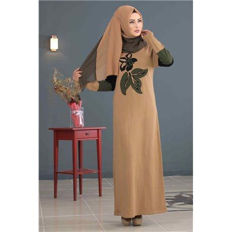 Платье + Палантин (беж)
